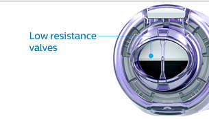 Low resistance valves let you breathe easily