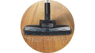 TriActive Z 硬地板吸嘴有效去除灰尘和碎屑