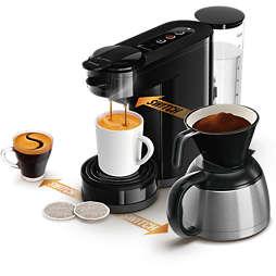 SENSEO® Switch 3in1 Kaffemaskin Base+ Svart