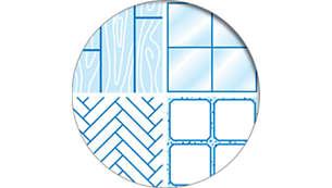 For parquet, laminate, vinyl, ceramic, natural stone etc.