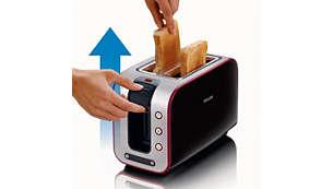 Mehanizam za visoko podizanje omogućuje sigurno vađenje malih komada kruha