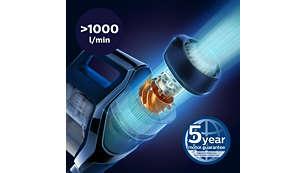 PowerBlade 數位馬達能創造氣流量 (>1000 L/min)*3
