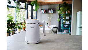 Automatische Abschaltung, wenn das Wasser kocht oder der Wasserkocher entfernt wird