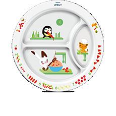 SCF702/00 Philips Avent Prato com divisões para bebês (12m+)