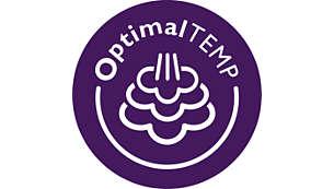 OptimalTEMP heated plate, guaranteed no burns*