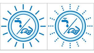 Indikator punog spremnika prljave vode / čišćenja spremnika prljave vode