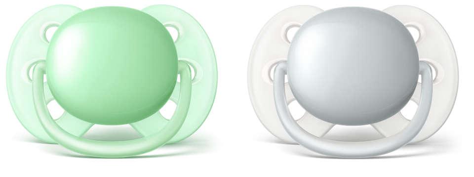 El chupete más suave para la piel sensible de su bebé