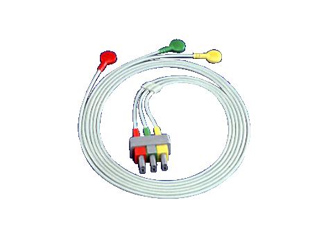 Sicherheitskabel, 3-adrig, abgeschirmt, Sicherheit, Clip Elektrodenkabel