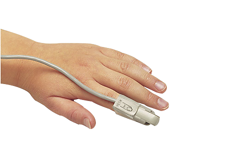Single-patient, adult and pediatric SpO₂ clip sensor Pulse oximetry supplies