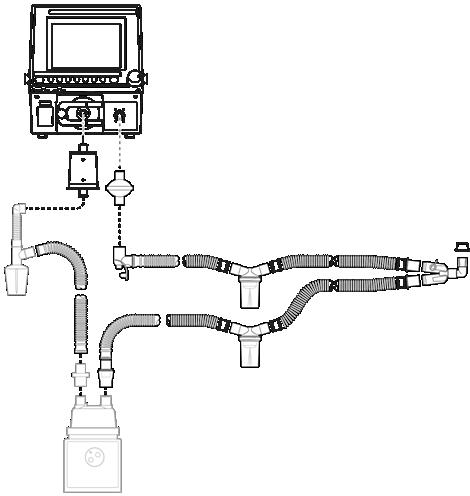 Esprit/V200 für einmaligen Gebrauch Schlauchsystem