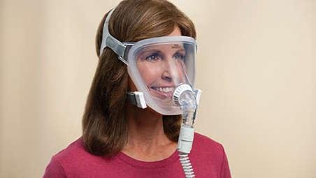 Ganzgesichtsmaske für Patienten mit Anpassungsschwierigkeiten
