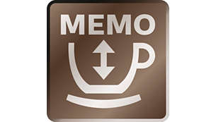 Memo function: adjust & store all your preferred recipes