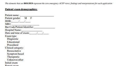 ACEP POC worksheets