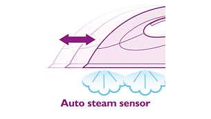Auto Steam Sensor activates the steam automatically