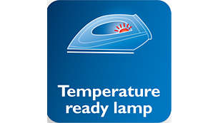 Temperature light indicates when the iron is hot enough