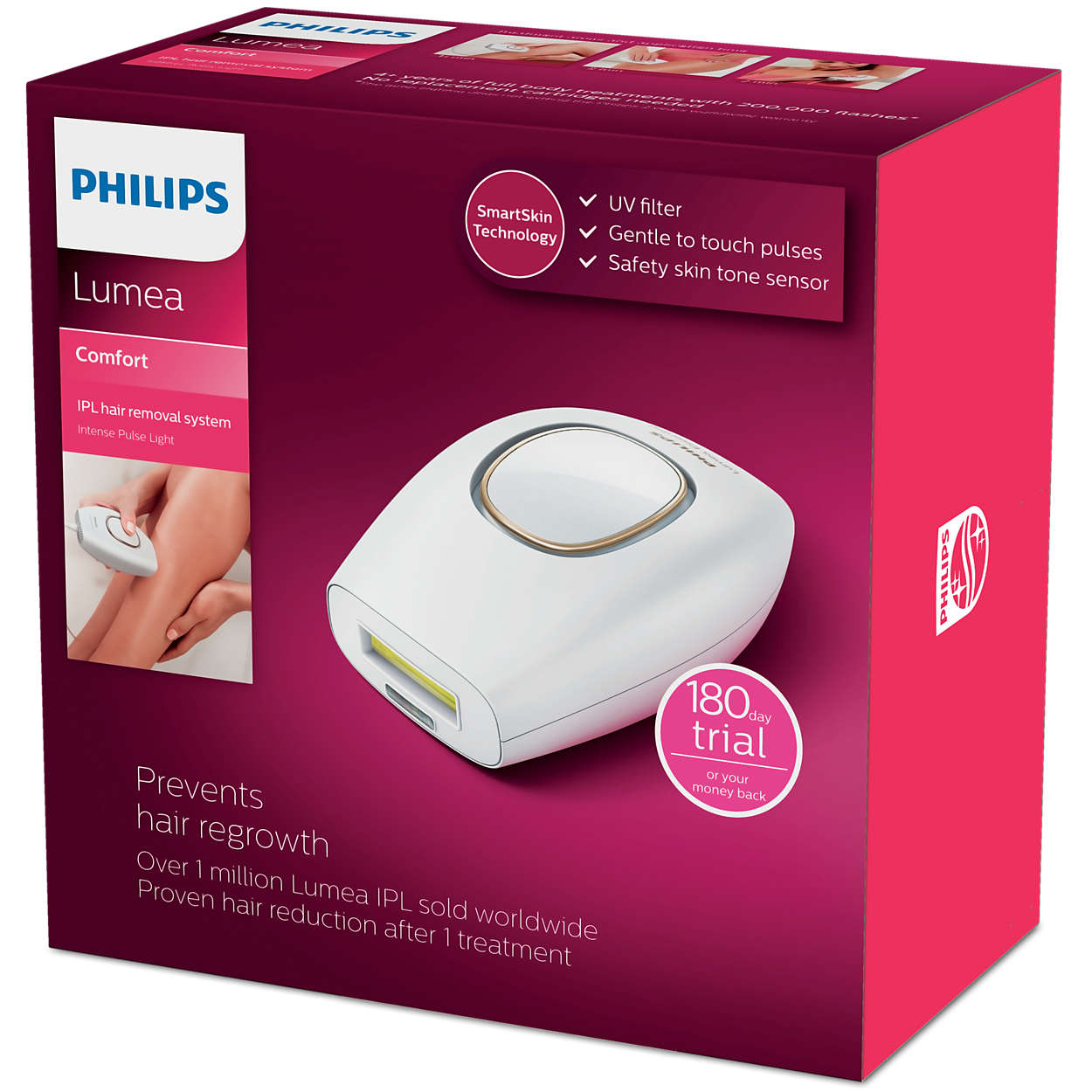 Lumea Comfort Ipl Hair Removal System Sc1981 50 Philips