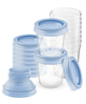 Recipientes para leche materna