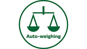 Built-in auto-weighing function