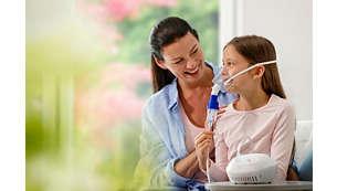 Tratamiento por inhalación familiar para el resfriado y la gripe*