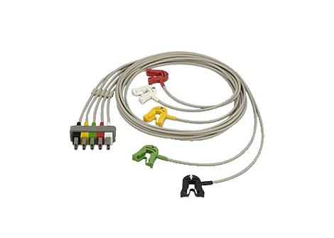 5-adriges, abgeschirmtes Sicherheitskabel mit Clips Elektrodenkabel
