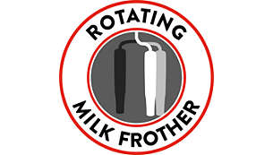 Rotating classic milk frother for hassle-free frothing