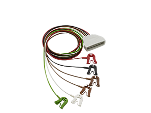 Patient Cable ECG 6 lead Grabber Telemetry Lead Set