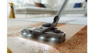 Usisni nastavak TriActive+ LED otkriva skrivenu prašinu, za temeljito čišćenje