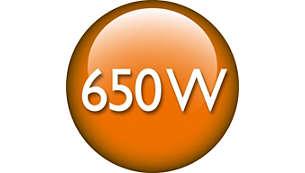 Výkonný 650W motor