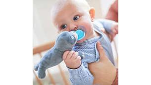 Ayuda a encontrar el chupete a los padres y al bebé