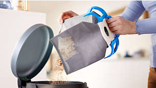 Reusable dust bag for ease of use