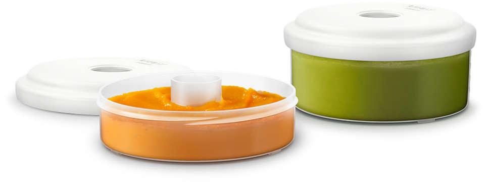Depozitare uşoară pentru mâncăruri proaspete