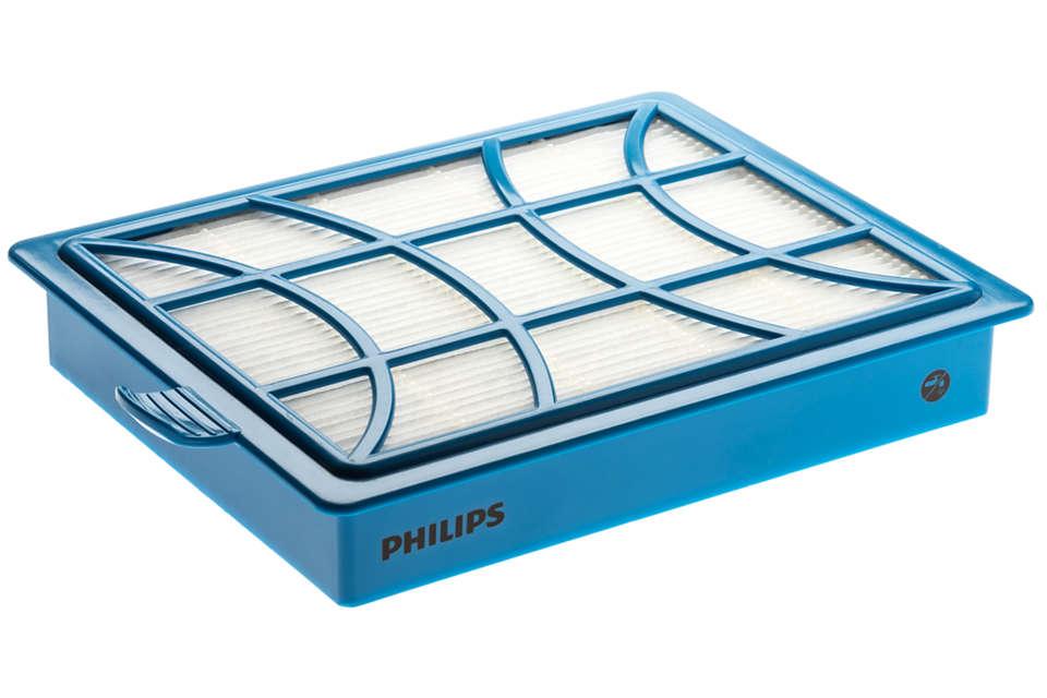 Duurzame en wasbare filterbehuizing.