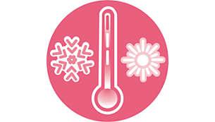 Houd de temperatuur in de babykamer in de gaten