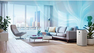 Up to 310m3/h CADR (1): purifies rooms up to 80m2 (2)