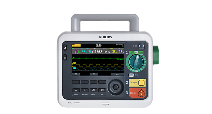 Efficia DFM100 defibrillator / monitor