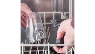Ambas piezas del LatteGo son aptas para el lavavajillas