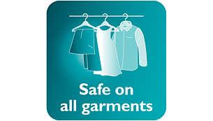 Safe to use on delicate fabrics, like silks