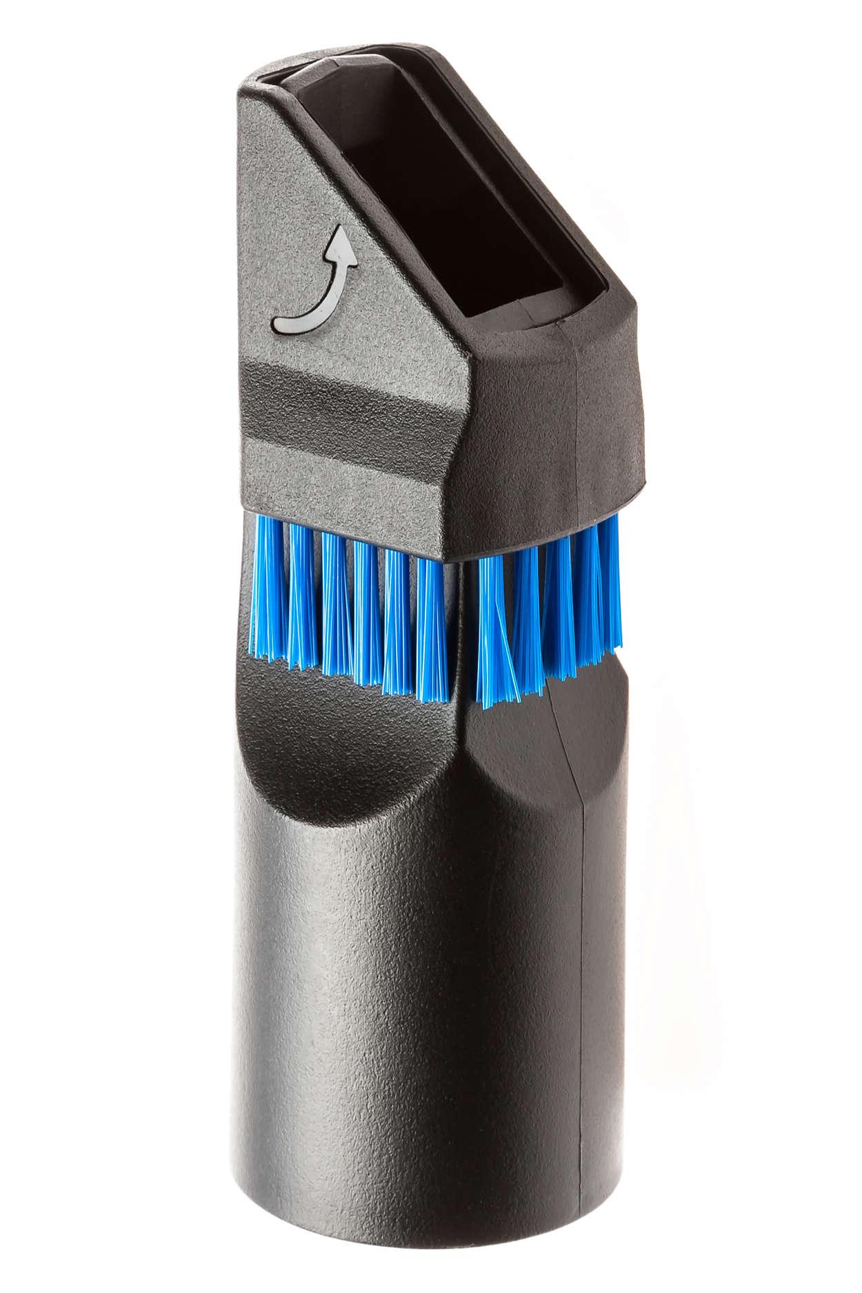 Accessoire 2en1 brosse douce / suceur plat