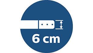 Nur 6cm hoch für die Reinigung niedriger Bereiche