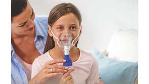 Pomaga łagodzić dyskomfort związany z obrzękiem błony śluzowej u dziecka*