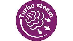 Parní čerpadlo Turbo protlačuje tkaninou až o50% více páry.*