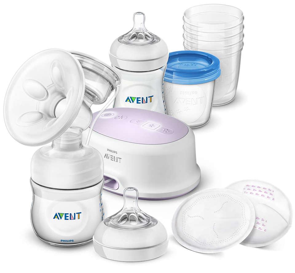 Plus grand confort, plus de lait.* Tirez, conservez et nourrissez