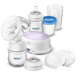 Avent Set enojne el. prsne črpalke in izdelki za shranj.
