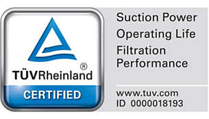 TÜV certified for trusted results