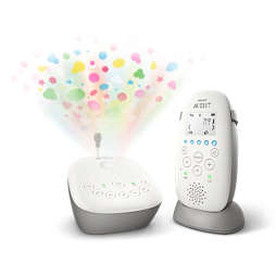 Avent DECT Audio Baby Monitor with Starry Night Projector