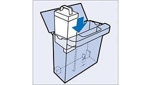 Nadomestne vložke lahko enostavno shranite v poseben predal za shranjevanje