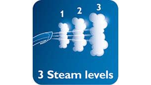 3 niveles de vapor