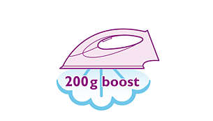 Steam boost up to 200 g