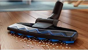 TriActive Z 吸嘴在硬地板上能发挥理想性能