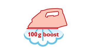 Stoomstoot van 100 g verwijdert de meest hardnekkige kreuken moeiteloos
